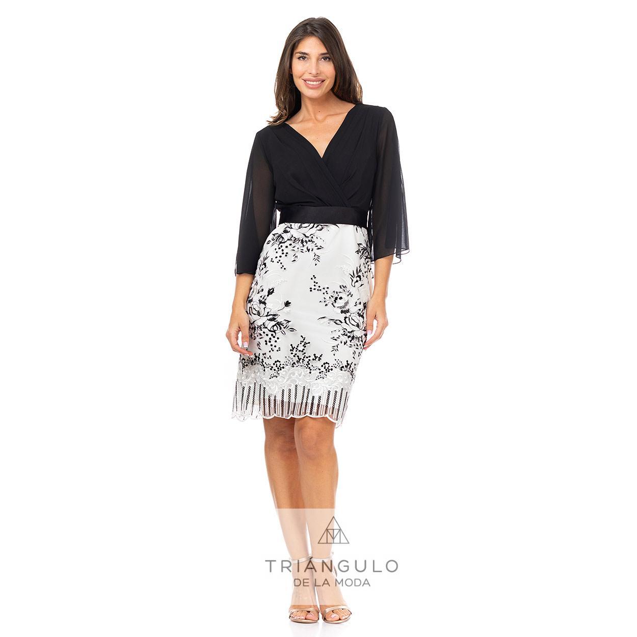 Tienda online del Triangulo de la Moda VESTIDO CORTO BLONDA GASA