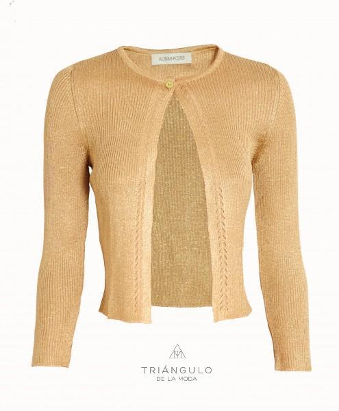 Tienda online del Triangulo de la Moda CHAQUETA LUREX ORO