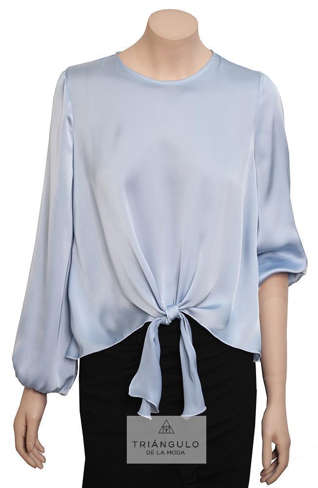 Tienda online del Triangulo de la Moda BLUSA SATIN MANGA LARGA