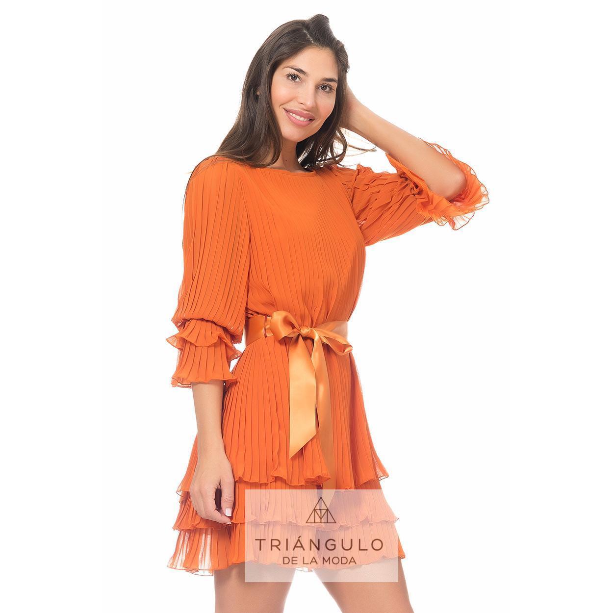 Tienda online del Triangulo de la Moda VESTIDO CORTO PLISADO