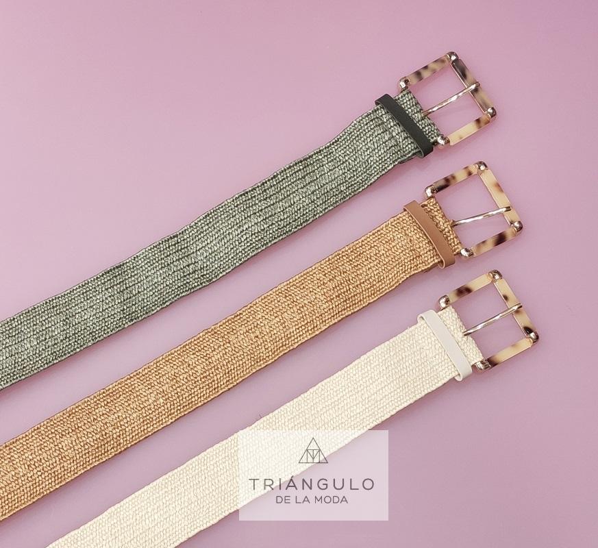 Tienda online del Triangulo de la Moda Cinturón rafia elástica
