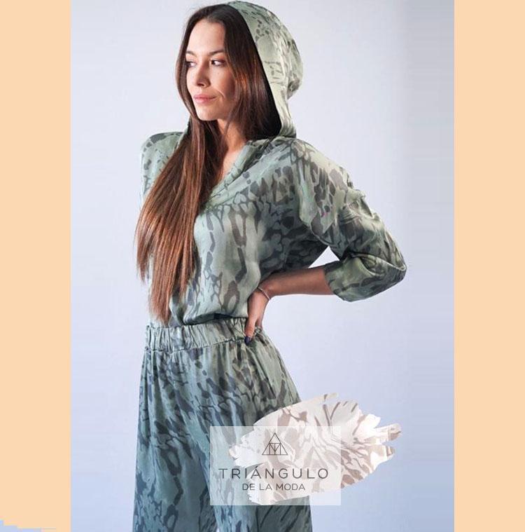 Tienda online del Triangulo de la Moda Blusa TANZANIA capucha
