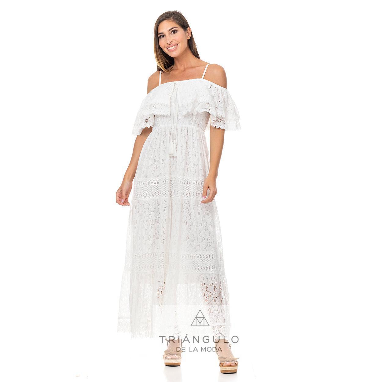 Tienda online del Triangulo de la Moda VESTIDO IBIZENCO PALABRA DE HONOR VOLANTE