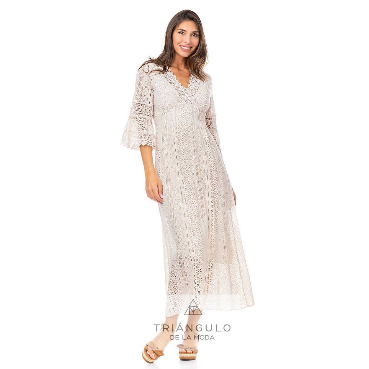Tienda online del Triangulo de la Moda VESTIDO BOHO BLONDA EN MANGA