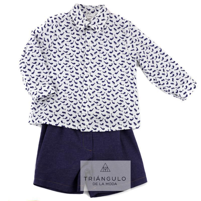 Tienda online del Triangulo de la Moda Conjunto niño camisa delfines