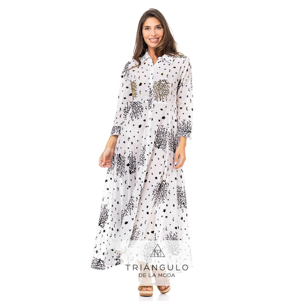 Tienda online del Triangulo de la Moda VESTIDO LARGO BOHO BORDADO ARRECIFES