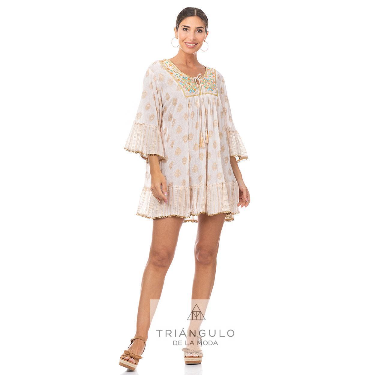Tienda online del Triangulo de la Moda CASACA BOHO CHIC C/BORDADO Y ESPEJITOS TANTRA