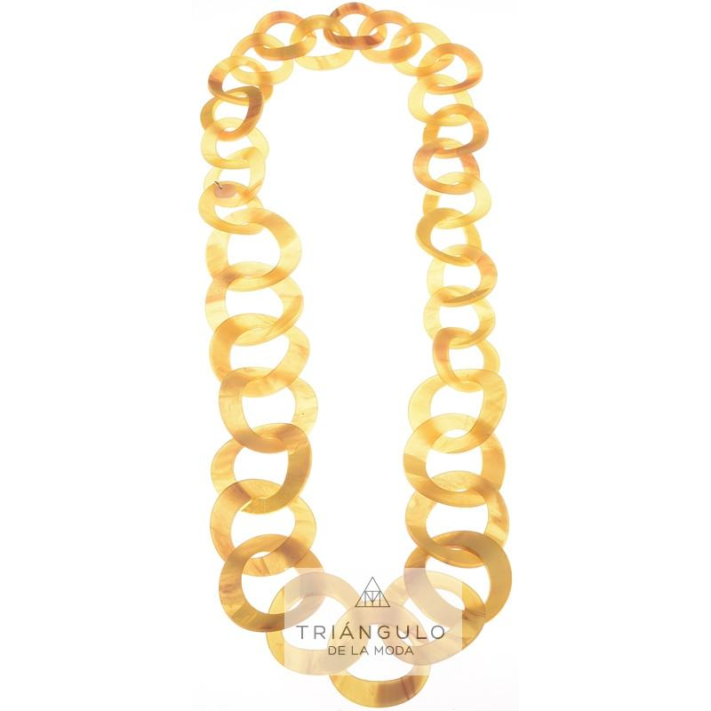 Tienda online del Triangulo de la Moda Collar largo eslabones resina