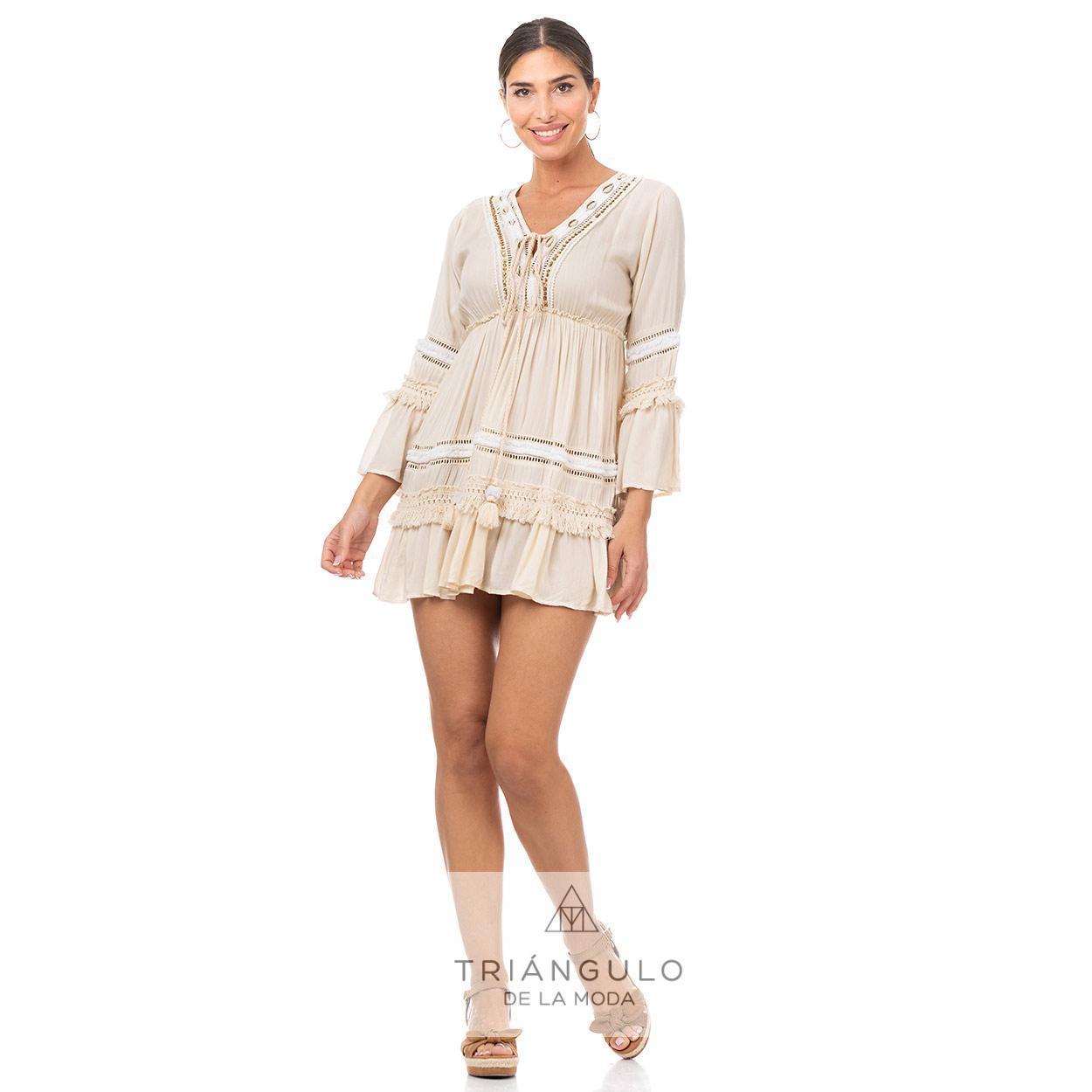 Tienda online del Triangulo de la Moda CASACA BOHO CHIC C/CONHCAS Y LENTEJUELAS