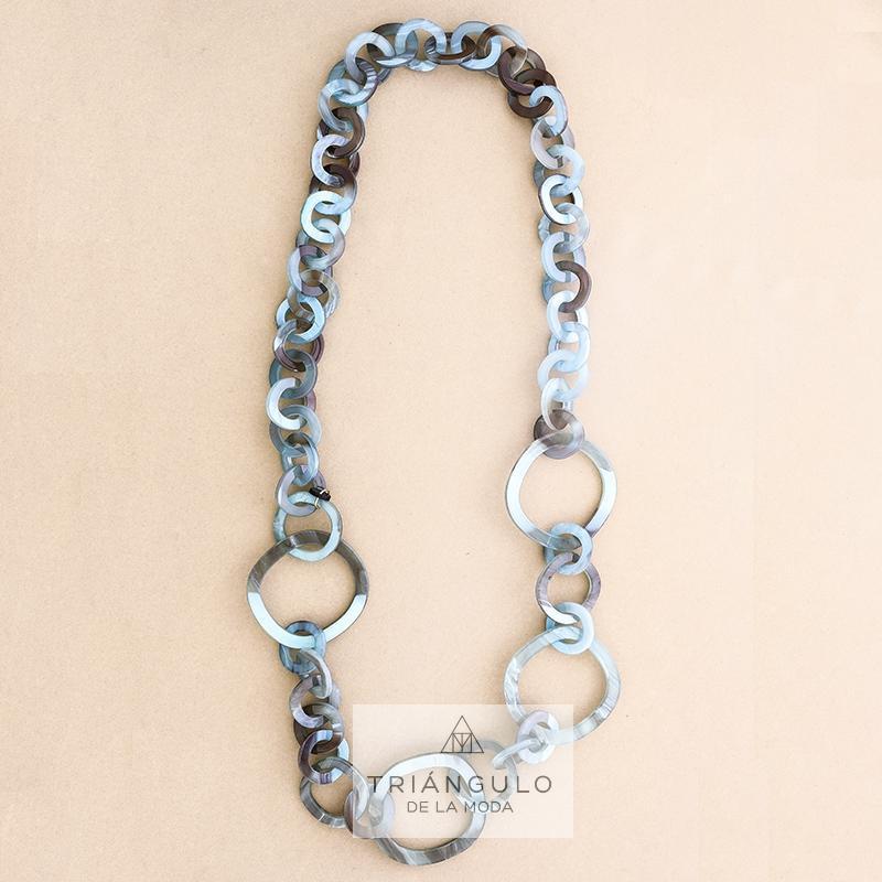 Tienda online del Triangulo de la Moda Collar largo aros resina