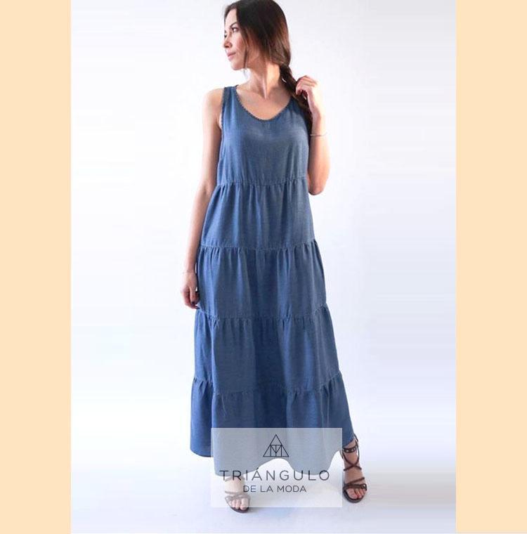 Tienda online del Triangulo de la Moda Vestido TENCEL largo