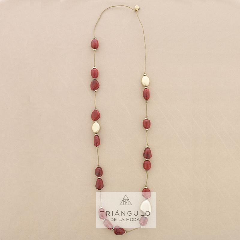 Tienda online del Triangulo de la Moda Collar largo cuentas resina
