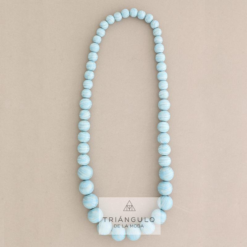 Tienda online del Triangulo de la Moda Collar largo bolas madera