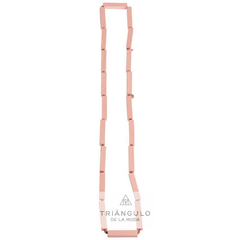Tienda online del Triangulo de la Moda Collar largo cuentas madera