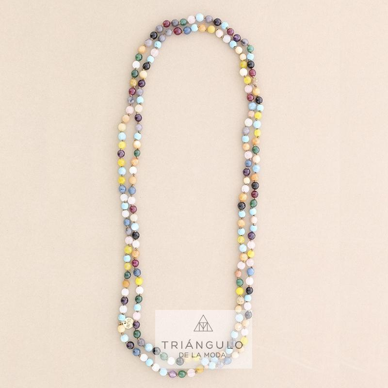 Tienda online del Triangulo de la Moda Collar largo cuentas piedras 1.4m*6mm