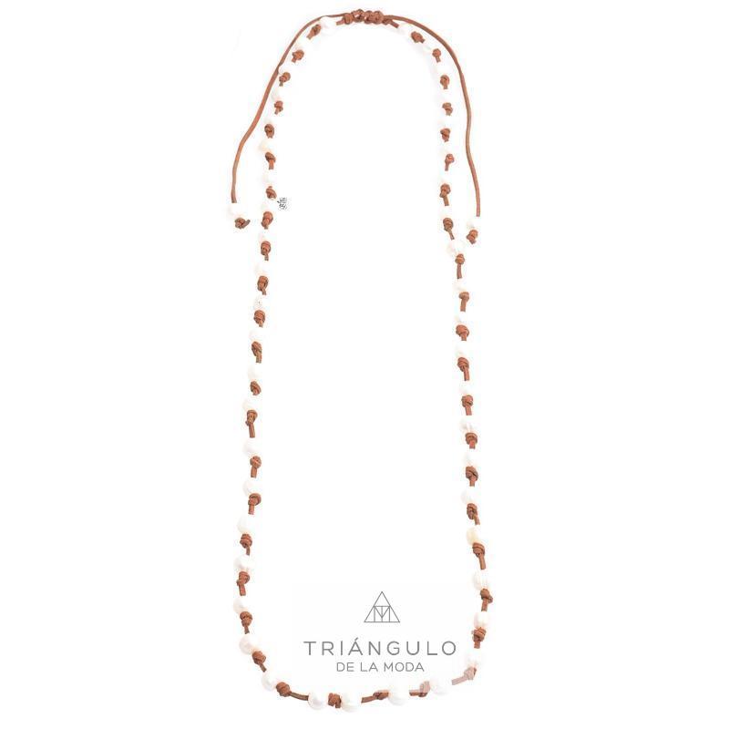 Tienda online del Triangulo de la Moda Collar largo nudos perlas cultivadas