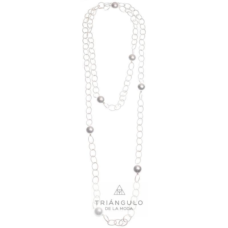 Tienda online del Triangulo de la Moda Collar largo cadena bolas