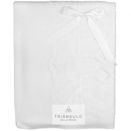 Tienda online del Triangulo de la Moda Toquilla lana puntilla en blanco