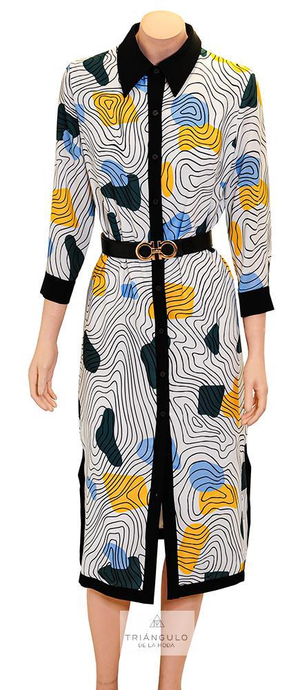 Tienda online del Triangulo de la Moda Vestido Estampado Geométrico