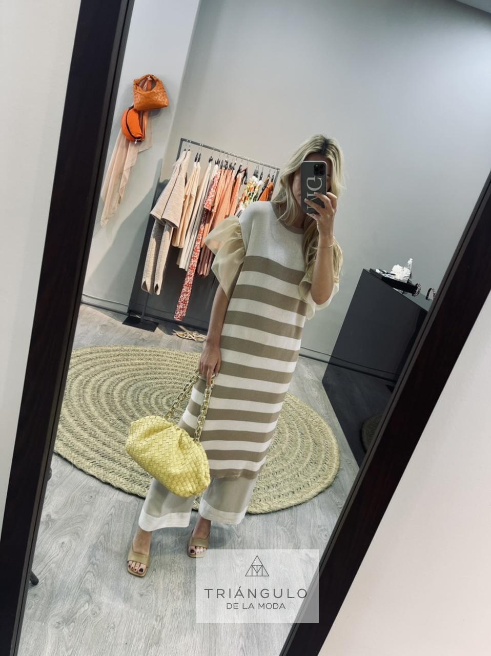 Tienda online del Triangulo de la Moda Vestido punto rayas