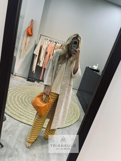 Tienda online del Triangulo de la Moda Abrigo tweed cobre