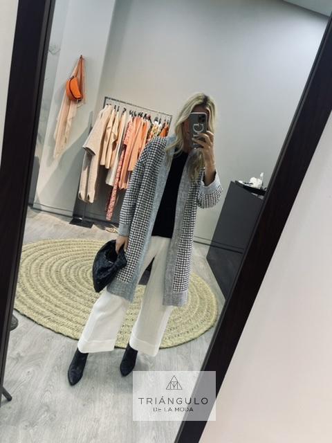 Tienda online del Triangulo de la Moda Abrigo cuadros