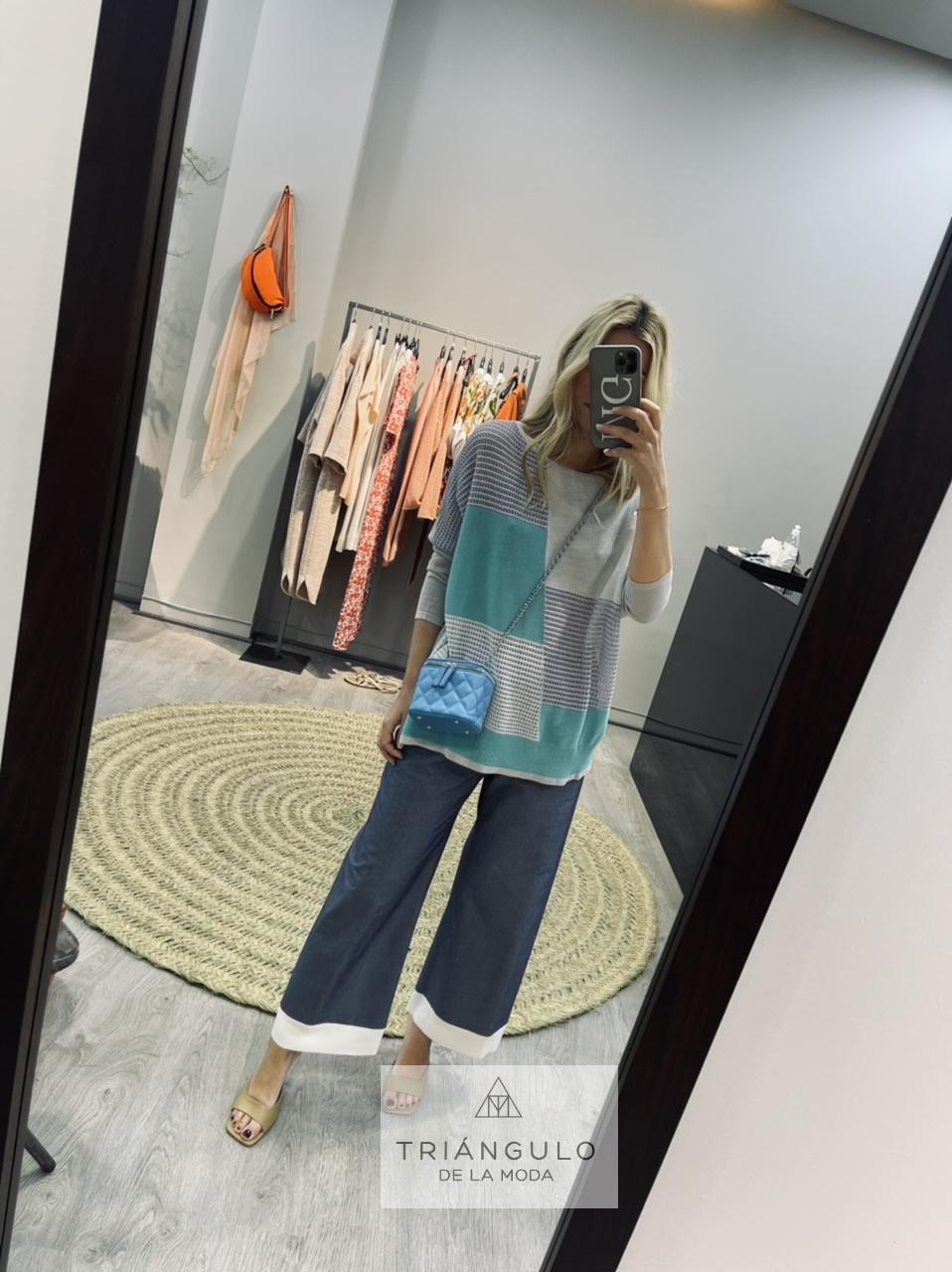 Tienda online del Triangulo de la Moda Jersey bicolor