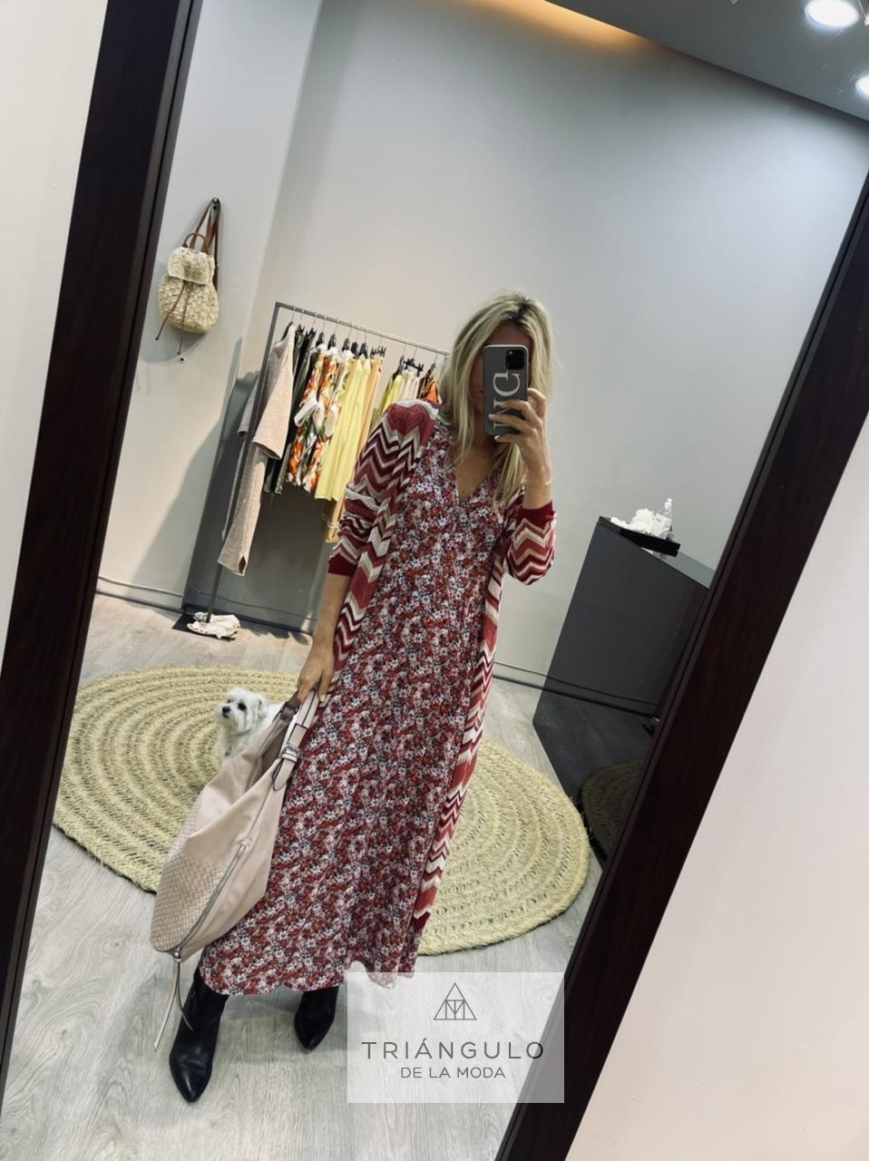 Tienda online del Triangulo de la Moda Vestido largo estampado