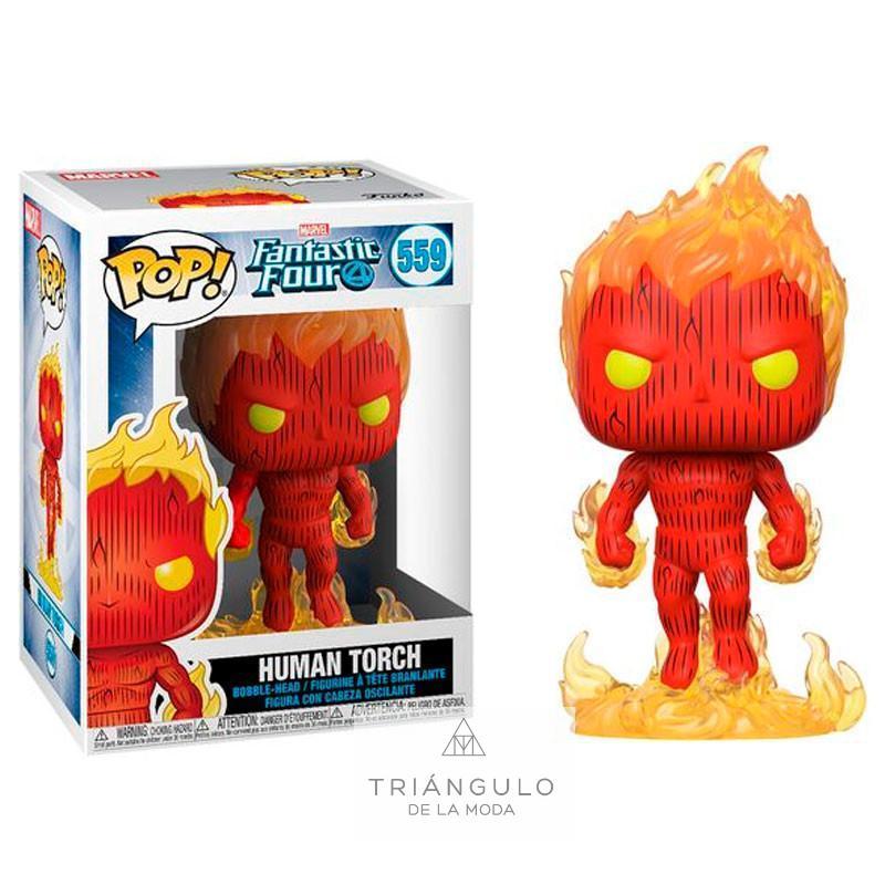Tienda online del Triangulo de la Moda Figura pop marvel los 4 fantasticos human torch