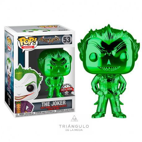 Tienda online del Triangulo de la Moda Figura pop dc comics the joker green chrome exclusivo