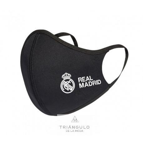 Tienda online del Triangulo de la Moda Mascarilla real madrid escudo negra junior
