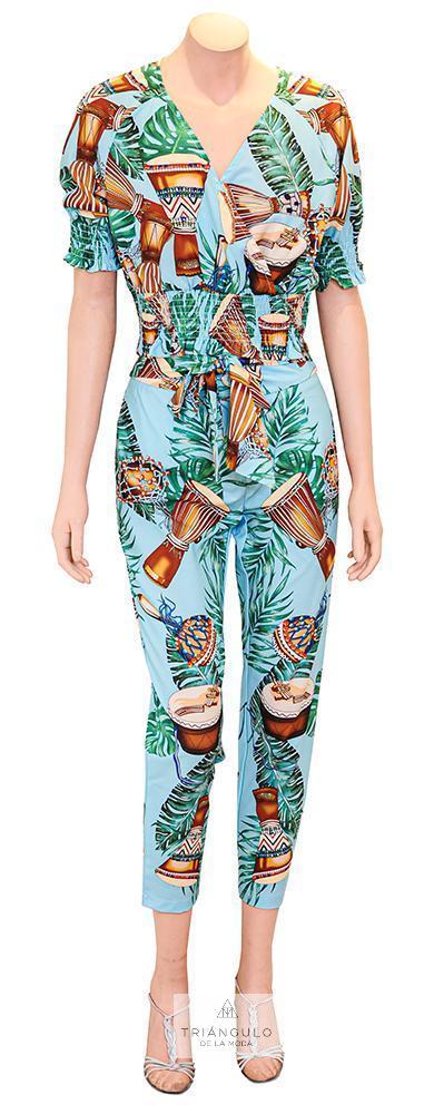 Tienda online del Triangulo de la Moda Conjunto estampado tropical
