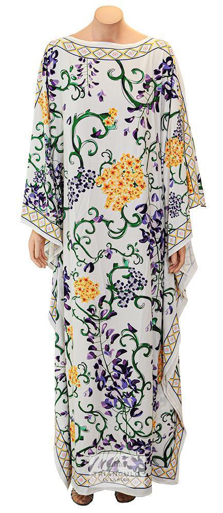 Tienda online del Triangulo de la Moda Vestido largo Kaftán estampado floral