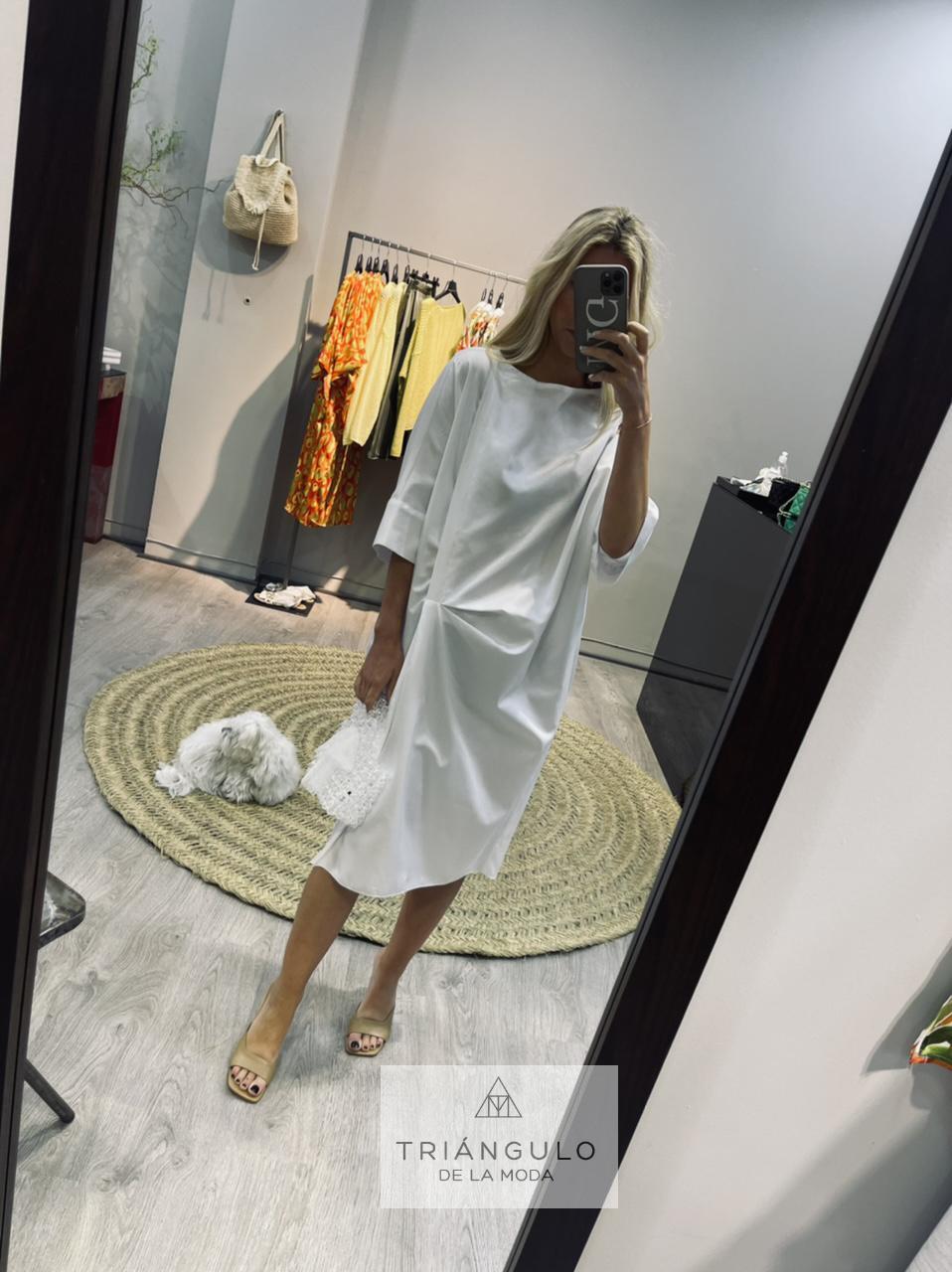 Tienda online del Triangulo de la Moda Vestido frunce algodon