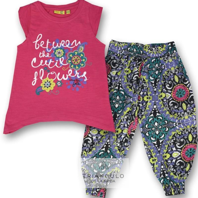 Tienda online del Triangulo de la Moda OFERTA CONJUNTO NIÑA FLOWERS