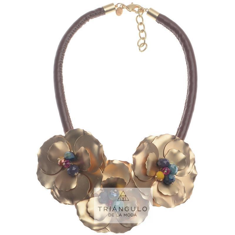 Tienda online del Triangulo de la Moda Gargantilla tres flores metal